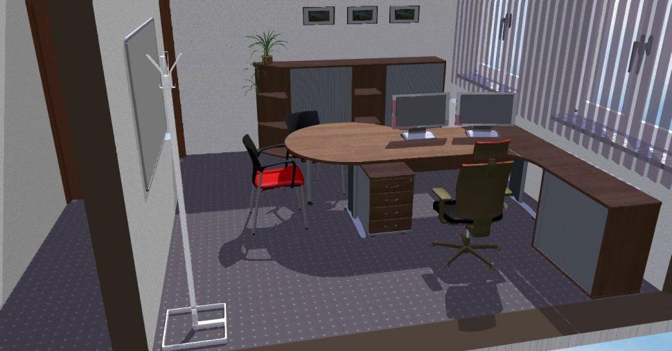 Návrh kanceláře (3D návrh, vizualizaci) vám zdarma vytvoříme iv Olomouci, Přerově, Prostějově aŠumperku