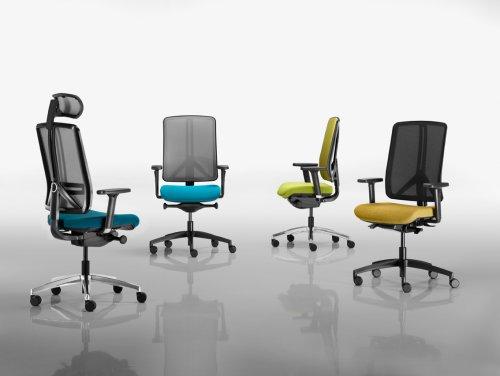 Kancelářské židle akřesla série RIM Flexi nabízíme iv Olomouci, Přerově, Prostějově aŠumperku